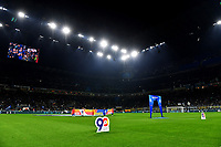 A panoramic view of the 90th years of Lega Serie A productions ahead of the match <br /> Milano 6-10-2019 Stadio Giuseppe Meazza <br /> Football Serie A 2019/2020 <br /> FC Internazionale - Juventus FC <br /> Photo Andrea Staccioli / Insidefoto