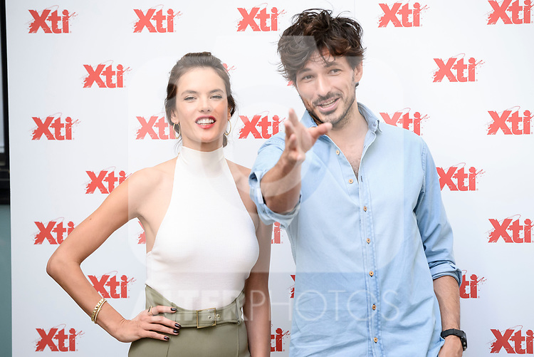 Brazilian model Alessandra Ambrosio and spanish model Andres Velencoso attends to the presentation of new summer campaign of XTI in Madrid, June 02, 2017. Spain.<br /> (ALTERPHOTOS/BorjaB.Hojas)