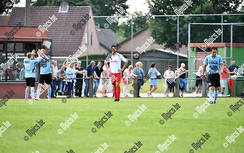 2017-08-06 / Voetbal / Seizoen 2017-2018 / Beker van Belgi&euml; /  Sint Job FC - KMR Biesen / Teleurstelling bij Mitch Vanbosch (Sint Job) terwijl de bezoekers de 2-3 vieren.<br /> <br /> ,Foto: Mpics.be