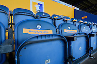 The Directors Box at the One Call Stadium prior to the Sky Bet League 2 match between Mansfield Town and Wycombe Wanderers at the One Call Stadium, Mansfield, England on 31 October 2015. Photo by Garry Griffiths.