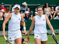 HARRIET DART (GBR), KATY DUNNE (GBR)<br /> <br /> TENNIS - THE CHAMPIONSHIPS - WIMBLEDON- ALL ENGLAND LAWN TENNIS AND CROQUET CLUB - ATP - WTA -ITF - WIMBLEDON-SW19, LONDON, GREAT  BRITAIN- 2017  <br /> <br /> <br /> &copy; TENNIS PHOTO NETWORK