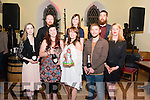 Screaming Pope Prize presentation in the Sol Y Sombre, Killorglin last Saturday night. Pictured front l-r Katie Higgins (finalist), Laura Wade (finalist), Tracy Sexton (2016 winner), Tom Mc Lean (finalist) and Tricia O'Connor (K-Fest Committee), Back l-r Neil Browne (Artistic Director), Helena Grimes (finalist) and Daniel Corkery (finalist).