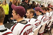 The Crimson signed autographs following their game against Brown on Saturday, November 7, 2015, at the Bright-Landry Hockey Center in Boston, Massachusetts.