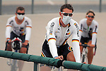 June 24, 2012:  German cyclists don surgical masks as a precaution against forest fire smoke.  Due to the heavy smoke from the Waldo Canyon Fire that threatens Colorado Springs, many cyclist were forced to withdraw from the final day of the U.S. Grand Prix of Sprinting.