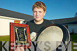 BODHRAN: 3rd at under-14 level at the World Bodhran Championships in Milltown in June was Christian Austin Canty from Killarney, who received a presentation from the organising committee on Sunday last.   Copyright Kerry's Eye 2008