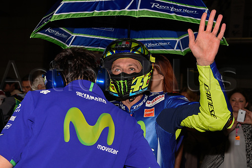 March 26th 2017, Doha, Qatar; MotoGP Grand Prix Qatar; Valentino Rossi (movistar Yamaha)