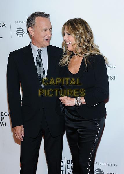 26 April 2017 - New York, New York - Tom Hanks, Rita Wilson. &quot;The Circle&quot; screening at Tribeca Film Festival. <br /> CAP/ADM/MSA<br /> &copy;MSA/ADM/Capital Pictures