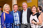 Orlaith and Ger O'Shea with Liam and Catherine Hartnett at the Killarney Athletic 50th anniversary celebrations in the Dromhall Hotel on Saturday night