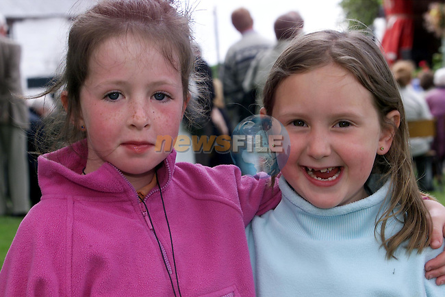 Hayley Maguire and Gemma Saurin pictured in Duleek at the Duleek Heritage Book launch on Saturday..Picture: Arthur Carron/Newsfile