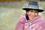 This woman is a local community member working to clean up toxic acid runoff from the Kumurana Mine near Caiza D, Bolivia. The mine, which is closed, produces highly polluted water that negatively impacts the farms and lives of people living downstream. An international coalition of engineers is working with local miners and farmers to clean up the mine.