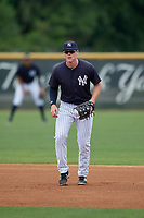 New York Yankees Eric Wagaman (35) during a Minor League Spring Training game against the Atlanta Braves on March 12, 2019 at New York Yankees Minor League Complex in Tampa, Florida.  (Mike Janes/Four Seam Images)