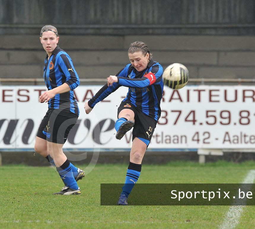 Dames Club Brugge : Christine Saelens.foto DAVID CATRY / Vrouwenteam.be