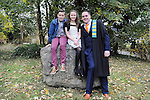 23/10/2015  Pictured at the recent Mary Immaculate College conferring ceremonies was Sean Breathnach, Carraroe, Co. Galway, who graduated with a Graduate Diploma in Primary Teaching, with brother Padraig and sister Aine. 625 students from 20 counties and 3 continents were conferred with academic awards across the College&rsquo;s 27 programmes including the College&rsquo;s 100th PhD award.<br /> Pic: Gareth Williams / Press 22<br /> <br /> <br /> Press Release: 23rd October 2015Education is a movement of formation that enables the individual to play their role in transforming society for the common good.100th PhD Graduate Conferred at Mary Immaculate CollegeEducation is a movement of formation that enables the individual to play their role in transforming society for the common good according to Prof. Michael A Hayes, President of Mary Immaculate College, who was speaking at the College&rsquo;s conferring ceremonies today Friday 23rd October. The quality of advanced scholarship at Mary Immaculate College was evident on the day as the 100th PhD graduate was conferred along with close on 650 students from 20 counties and 3 continents all of whom graduated with academic awards across the College&rsquo;s 27 programmes. Congratulating all those graduating the President said &ldquo;These ceremonies mark the high point of the College&rsquo;s year as we acknowledge the achievement of our students. The ceremonies this year are particularly special as we mark the conferring of our 100th PhD Graduate &ndash; this is a very proud achievement for us as a College and I want to congratulate those who have received these doctorates and my colleagues who supervised their work&rdquo;. Not only were students conferred with awards on undergraduate, diploma, graduate diploma and master programmes but this year marked the first graduation of students from the Certificate in General Learning &amp; Personal Development, a programme  for people with intellectual disabilities.&ldquo;Working with students with intellectual disabilities and offering them a