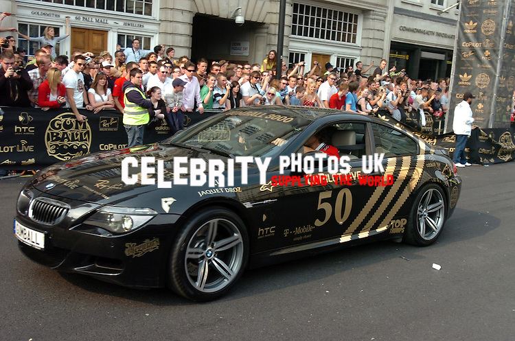 THE START OF THE GUMBALL 3000 RALLY IN PALL MALL, LONDON picture by brian jordan celebrityphotosuk.com