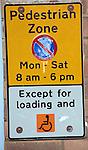 Pedestrian Zone parking restriction sign