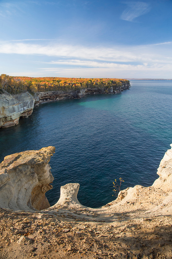 Fall color at Pictured Rocks National Lakeshore on Michigan's Upper Peninsula.