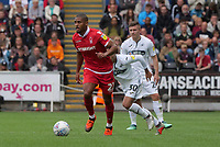 Nottingham Forest&rsquo;s Saidy Janko in action during todays game <br /> <br /> Photographer Ian Cook/CameraSport<br /> <br /> The EFL Sky Bet Championship - Swansea City v Nottingham Forest - Saturday 15th September 2018 - Liberty Stadium - Swansea<br /> <br /> World Copyright &copy; 2018 CameraSport. All rights reserved. 43 Linden Ave. Countesthorpe. Leicester. England. LE8 5PG - Tel: +44 (0) 116 277 4147 - admin@camerasport.com - www.camerasport.com