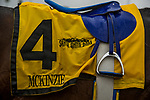 ARCADIA, CA - MARCH 10: Mckinzie and Mike Smith after the San Felipe Stakes at Santa Anita Park on March 10, 2018 in Arcadia, California. (Photo by Alex Evers/Eclipse Sportswire/Getty Images)