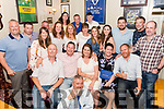 At Bunkers Killorglin on Saturday for Kieran O'Shea's 40th birthday party surrounded by family & friends<br /> Seated L-R Noel Foley, Kieran O'Shea, Paula O'Shean Joanne Foley, James O'Sullivan with Mike Foley in front.