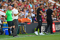 Manchester City Manager Pep Guardiola urges his side on during AFC Bournemouth vs Manchester City, Premier League Football at the Vitality Stadium on 25th August 2019
