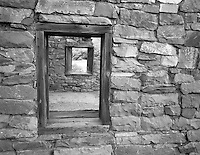 Window in fort at Lee's Ferry. Arizona