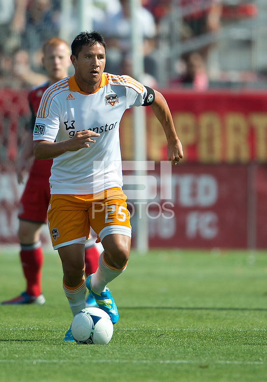 July 28, 2012: Houston Dynamo forward Brian Ching #25 in action during a game between Toronto FC and the Houston Dynamo at BMO Field in Toronto, Ontario Canada..The Houston Dynamo won 2-0.