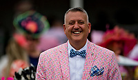 LOUISVILLE, KY - MAY 04: A man wears a derby themed suit and fancy bowtie on Kentucky Oaks Day at Churchill Downs on May 4, 2018 in Louisville, Kentucky. (Photo by Eric Patterson/Eclipse Sportswire/Getty Images)