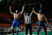 The Mexican wrestler Blue Demon Jr. Is the superhero that Mexico needs. ***<br /> <br /> The son of the Legend Blue, Blue Demon Jr. fights in a wrestling match after expressing concern about the situation in Mexico and state that political institutions need to change dramatically in order to progress. ******<br /> ******************************************************<br /> The Mexican wrestler Blue Demon Jr. pose with its famous enigmatic mask after expressing concerns about Mexico's current political situation. <br /> <br /> Blue Demon jr. Takes another win tonight struggle more, continuing the tradition so that Blue Demon left his father who was a legend of Mexican wrestling to date. <br /> <br /> Portrait of Blue Demon jr. Blue Demon son like his father never remove his mask to reveal his identity. <br /> <br /> Blue Demon jr. Takes another win tonight struggle more, continuing the tradition so that Blue Demon left his father who was a legend of Mexican wrestling to date. <br /> <br /> The blue coat with silver glitter is a distinctive classic Blue Demon within the sport of wrestling and film where he represents a super hero masked Mexican. <br /> <br /> Dressing like a super hero the professional wrestler Blue Demon Jr walks towards the ring cheered by fans. <br /> The legendary Blue Demon Jr. prays before a fight. <br /> <br /> The wrestler Blue Demon jr. Pose with its famous mask. <br /> <br /> Portrait of Blue Demon jr. Blue Demon son like his father never remove his mask to reveal his identity.
