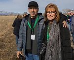 Edward and Helen Salas at the Raptor Highway and Byway tour area during the Eagles & Agriculture event on Friday, Jan. 26, 2018 in the Carson Valley.