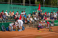 The Hague, Netherlands, 11 June, 2017, Tennis, Play-Offs Competition, woman's doubles, Irina Bara/Buzarnescu, Leimonias<br /> Photo: Henk Koster/tennisimages.com