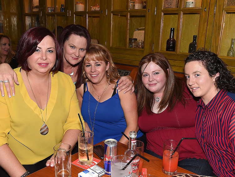 Rebecca Monaghan celebrating her 21st birthday in the Dunleer Inn with friends Janette Faulkner, Valerie Kelly, Laura Murphy and Brenda Crosby. Photo: Colin Bell/pressphotos.ie