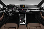 Stock photo of straight dashboard view of 2018 Audi A5  Premium 2 Door Coupe