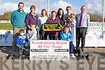 TRACK: Launching the Fundraising Night at the Dogs,Tom O'Sullivan Memorial Sweepstake, to raise Funds for the Palliative Care Unit, kerry General on Thursday at The Kingdom Greyhound Stadium,TraleeFront Conor O'Sullivan, William Somers and Jamie O'Sullivan, back l-r: Declan Dowling (manager KGS), Maura Sullivan (KGS), Linda O'Sullivan, Mary O'Sullivan, Caroline Somers, Stephen O'Sullivan, Caoimhe Somers and Dan Galvin (Chairperson KHF).