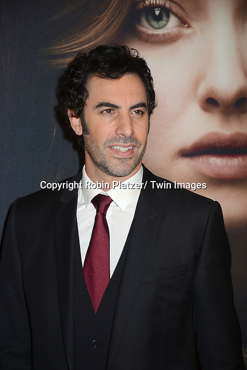 """Sacha Baron Cohen attends the American Premiere of """"Les Miserables"""" on December 10, 2012 at the Ziegfeld Theatre in New York City. The movie stars Hugh Jackman, Anne Hathaway, Amanda Seyfried, Eddie Redmayne, Russell Crowe, Samantha Barks, Isabelle Allen and Sacha Baron Cohen."""