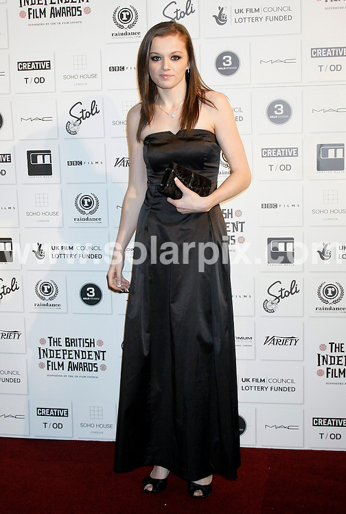 **ALL ROUND PICTURES FROM SOLARPIX.COM**.**WORLDWIDE SYNDICATION RIGHTS**.The Independent Film Awards at The Brewery in Chiswell Street, London.This pic:  Katie Jarvis.JOB REF:   10350   LNJ     DATE:  06.12.09.**MUST CREDIT SOLARPIX.COM OR DOUBLE FEE WILL BE CHARGED**.**MUST NOTIFY SOLARPIX OF ONLINE USAGE**.**CALL US ON: +34 952 811 768 or LOW RATE FROM UK 0844 617 7637**