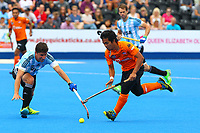 during the Hockey World League Semi-Final match between Argentina and Malaysia at the Olympic Park, London, England on 24 June 2017. Photo by Steve McCarthy.