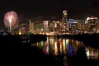 Colorful Fireworks Display on Ladybird Lake as Austin Celebrates a Happy New Year!