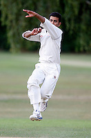 Sneh Shah bowls for Wembley during the Middlesex County League Division Three game between North London and Wembley at Park Road, Crouch End on Sat July 24, 2010