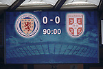 0-0 at full time as Serbia were there for the taking