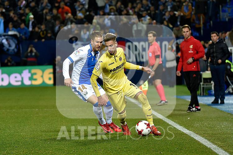 Leganes vs Villarreal Samu Castillejo during Copa del Rey match. 20180104.