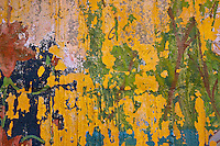 Abstract - scrapped paint from a painting on a wall in Jaisalmer, Rajasthan, India