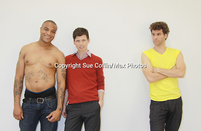 Christian Barber, Nick Lewis, xx, Josh Davis - Empire The Series films on set June 3, 2012  in Brooklyn, New York. (Photo by Sue Coflin/Max Photos)