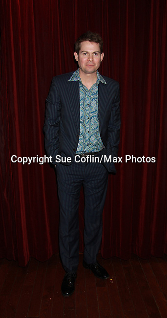 """As The World Turns Trent Dawson (wearing """"Henry"""" shirt is a part of Still Sassy with songs and stories on October 30, 2011 at Feinstein's Loews Regency, New York City, New York. (Photo by Sue Coflin/Max Photos)"""