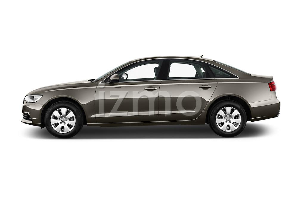 Driver side profile view of a 2014 Audi A6 AVUS 4 Door Sedan 2WD