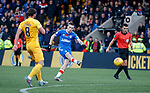 10.11.2019: Livingston v Rangers: Ryan Kent with a shot