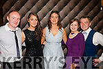 Our Night<br /> -------------<br /> Pictured at the Tralee IT Sports and Societies annual ball in the Ballyroe Hts Hotel last Thursday were l-R Joe Weir,Aoife Nolan,Anna O'Hea,Chloe Kelliher and Karl Browne