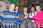 NEW YEAR: Toasiing to the New Year on Friday night in Roundy's Bar, Tralee, L-r: Larry Dawson, Brian Kearney, Kevin Walsh,Ian Moriarty and Jim Lowe...... . ............................... ..........