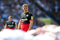 Owen Farrell of Saracens watches a scrum. Aviva Premiership Final, between Saracens and Exeter Chiefs on May 28, 2016 at Twickenham Stadium in London, England. Photo by: Patrick Khachfe / JMP