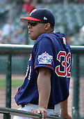 July 14, 2003:  Pitcher Dicky Gonzalez of the Pawtucket Red Sox, Class-AAA affiliate of the Boston Red Sox, during a International League game at Frontier Field in Rochester, NY.  Photo by:  Mike Janes/Four Seam Images