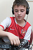 Child learning to use a turntable at Greenlane Youth Centre; Nottingham,